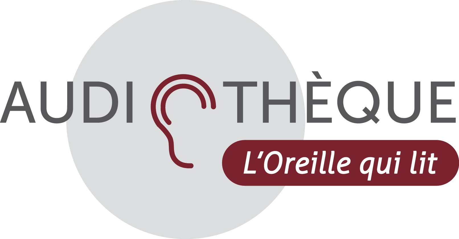 Logo Audiothèque de l'oreille qui lit.