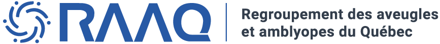Logo Regroupement des aveugles et amblyopes du Québec.